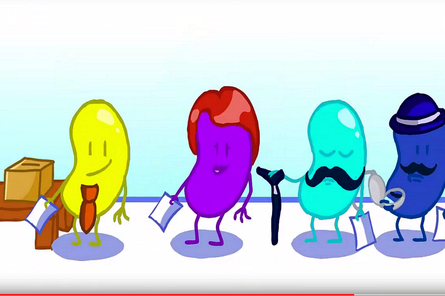 Animated view of jellybeans explaining the difference between Parliament and government