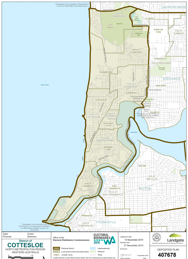 Cottesloe Electorate map
